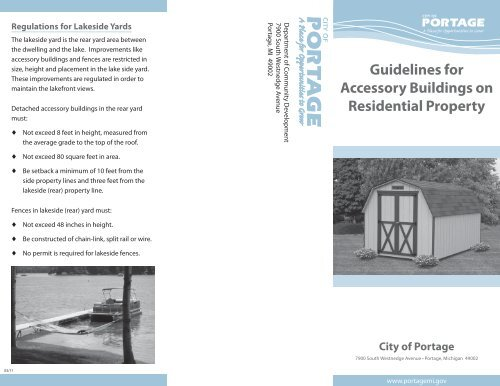 city of portage water