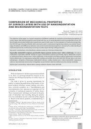 comparison of mechanical properties of surface layers with use of ...