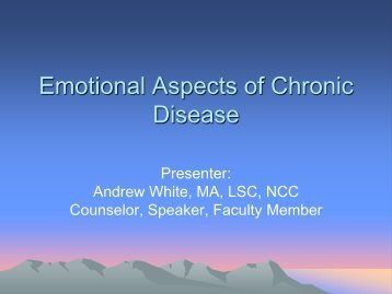 Emotional Aspects of Chronic Disease - The Myositis Association
