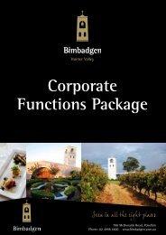 Corporate Functions Package - Bimbadgen Estate