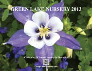 GREEN LAKE NURSERY 2013