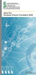 About the European Science Foundation 2009