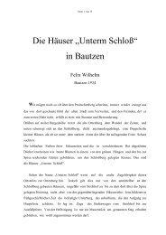 """Die Häuser """"Unterm Schloß"""" in Bautzen - Wilhelm und Bautzen"""
