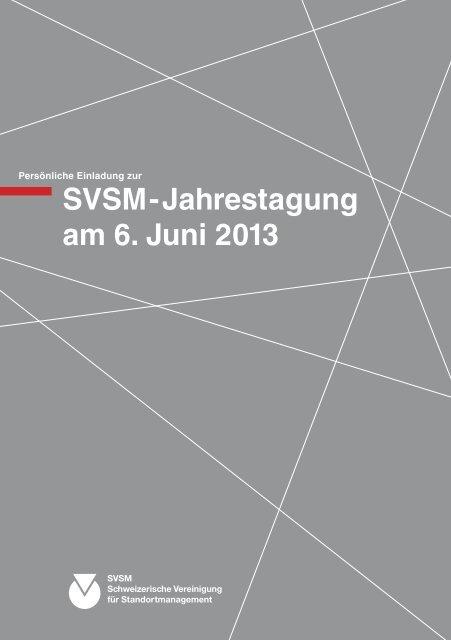 SVSM-Jahrestagung am 6. Juni 2013 - SVSM - Schweizerische ...