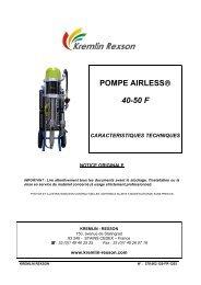 POMPE AIRLESS® 40-50 F - Kremlin Rexson