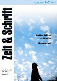 Heft 2/2011 - Zeit & Schrift