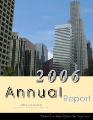 2006 Annual Report - Los Angeles County Assessor
