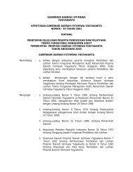 GUBERNUR DAERAH ISTIMEWA - Pemda DI Yogyakarta