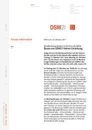 Busse von DSW21 fahren Umleitung - Digistadtdo
