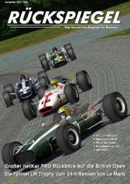 VR-Zeitung: Rückspiegel - Virtual Racing eV