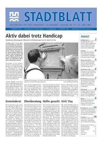 Ausgabe 17 vom 23. April 2008 - Stadt Heidelberg