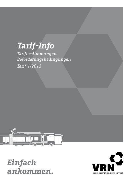 Tarif Info Verkehrsverbund Rhein Neckar