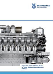 Expansion Joints and Metal Hoses for Heavy Engines ... - BOA Group