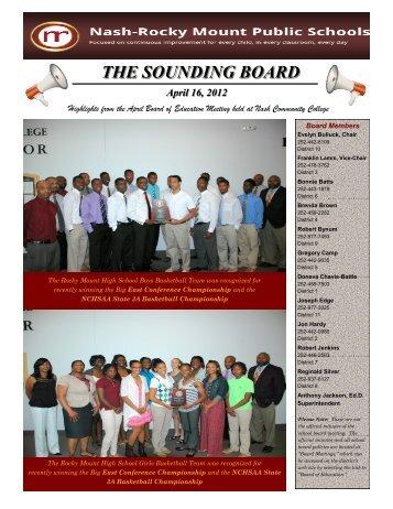 THE SOUNDING BOARD - Nash-Rocky Mount Schools
