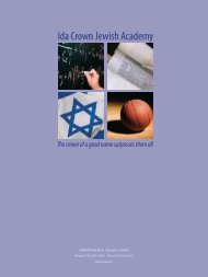 Ida Crown Jewish Academy - Partnership for Excellence in Jewish ...