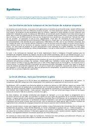 Synthèse du rapport et bibliographie (pdf - 215 Ko)