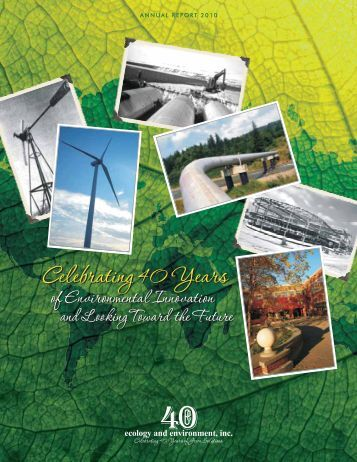 Annual Report 2010 - Ecology & Environment