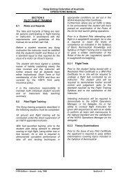 Section 8 Pilot Flight Training - Hang Gliding Federation of Australia