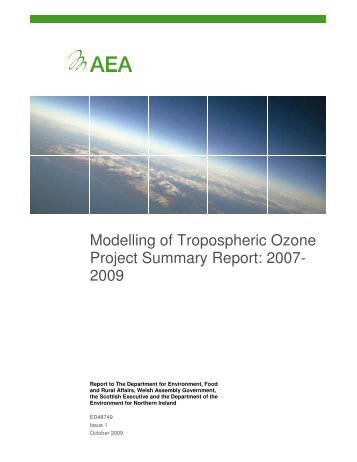 Modelling of Tropospheric Ozone Project Summary ... - UK-Air - Defra