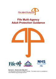 Fife Multi-Agency Adult Protection Guidance - Home Page