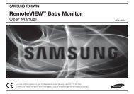 Samsung SEW-3020 Video Baby Monitor Manual
