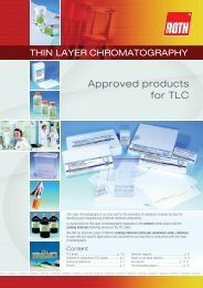 Thin Layer ChromatographyApproved products for TLC - Carl Roth