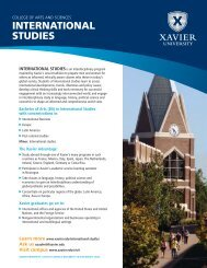 INTERNATIONAL STUDIES - Xavier University