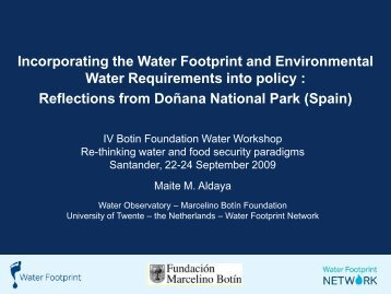 Incorporating the Water Footprint and Environmental Water ...