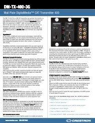 DM-TX-400-3G - Custom Controls