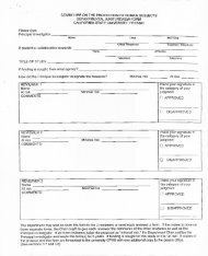 Application Form for Unfunded Research