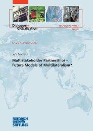 Multistakeholder partnerships - Bibliothek der Friedrich-Ebert-Stiftung