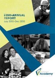 July 2010–Dec 2010 - Tasmanian Academy