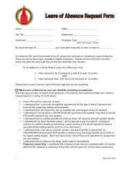 FMLA and Personal Leave of Absence Request Form