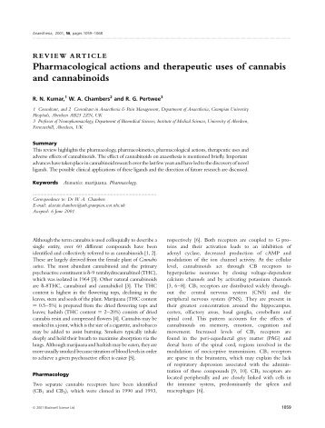 Pharmacological actions and therapeutic uses of ... - Thblack.com