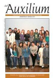 Bollettino «dall'Auxilium» 1/2013 - Pontificia Facoltà di Scienze dell ...