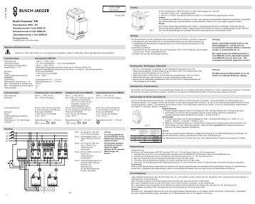 DE - BUSCH-JAEGER Katalog
