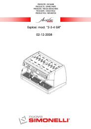 "Esplosi: mod. ""2-3-4 GR"" 02-12-2008 - Nuova Simonelli"