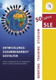 Entwicklungszusammenarbeit gestalten - SLE Berlin