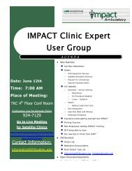 Clinic Expert Users Group Meeting Minutes 06/12/2012 - IMPACT ...