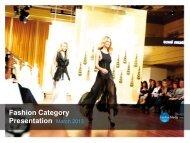 Fashion Category Presentation March 2013 - Fairfax Media Adcentre