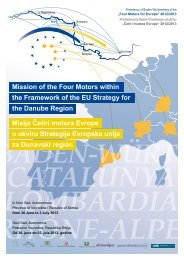 Mission of the Four Motors within the Framework of the EU Strategy ...