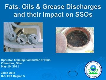 Fats, Oils & Grease Discharges and their Impact on ... - Ohiowater.org