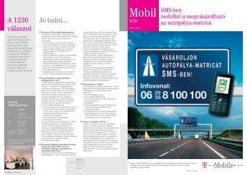 Mobil Info 2006. április - T-Mobile