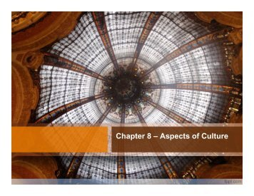 Chapter 8 – Aspects of Culture - Sharyland ISD