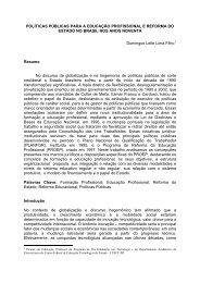 políticas públicas para a educação profissional e reforma do estado ...