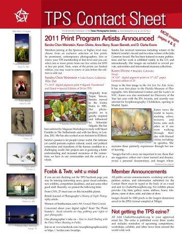 Tech Sheet 27: Signing Wk - Texas Photographic Society