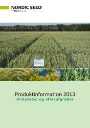 Produktinformation 2013