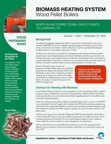 BIOMASS HEATING SYSTEM Wood Pellet Boilers - Department of ...