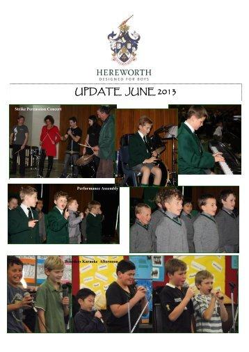 UPDATE JUNE 2013 - Hereworth School