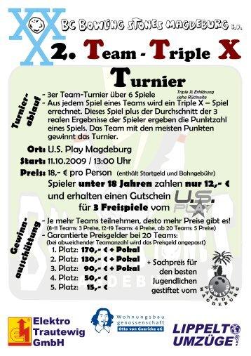 2. Team - Triple X Turnier - BC Bowling Stones Magdeburg eV